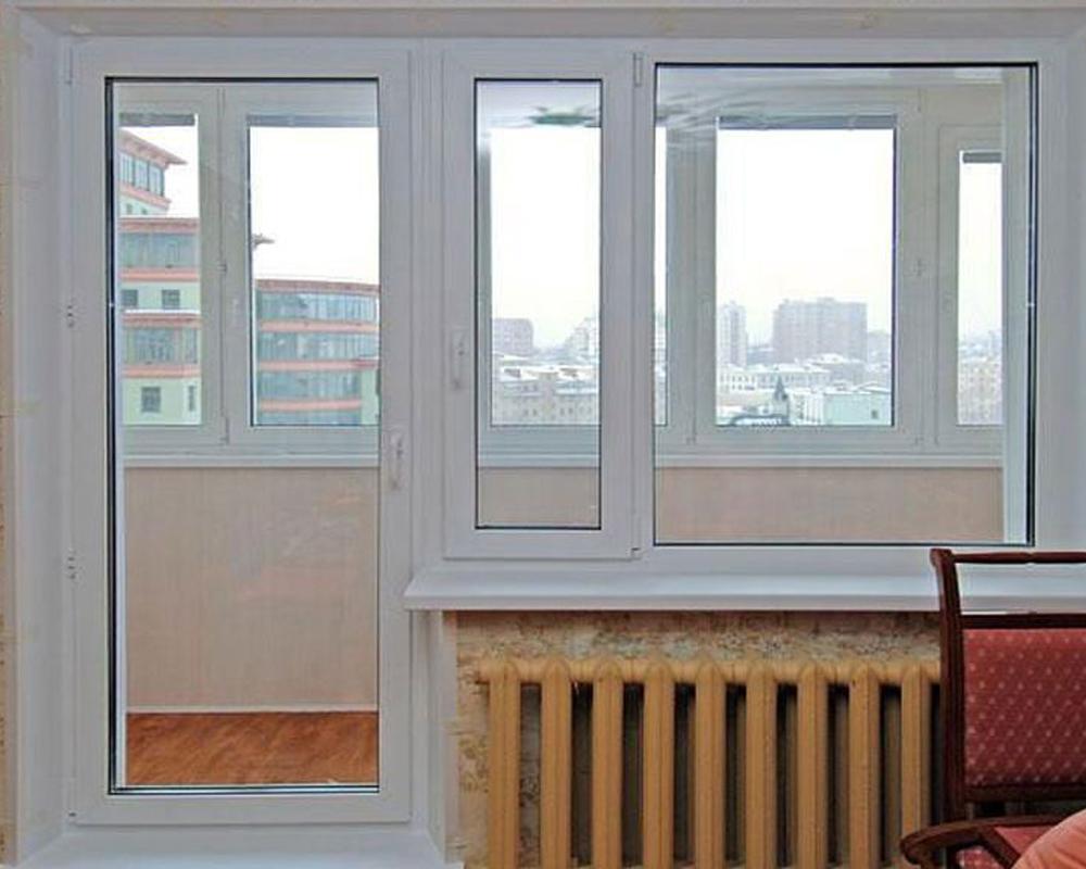 Остекление балкона и отделка * пластиковые окна и двери во в.